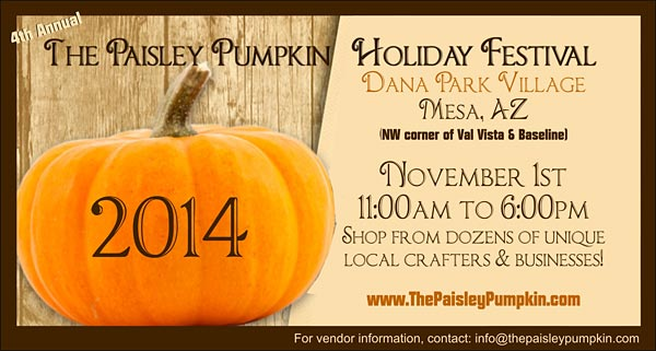 Fourth Annual Paisley Pumpkin Holiday Festival